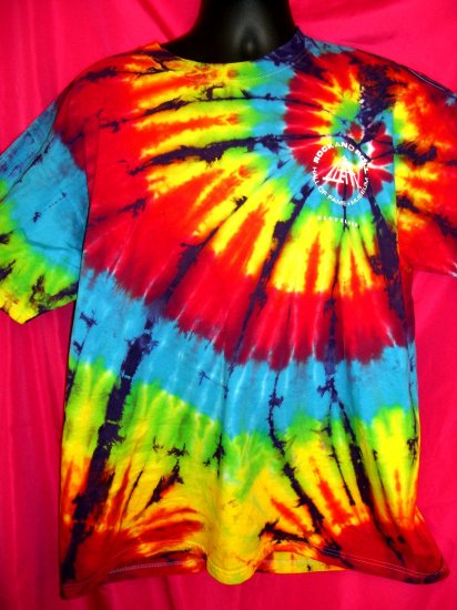SOLD!  Cool Tie Dye XL T-Shirt Rock and Roll Hall of Fame ~ If its too loud, you're too old..