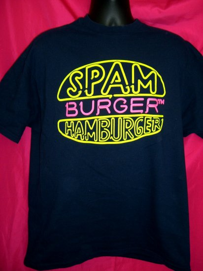 Rare SPAM Large or XL T-Shirt SPAMBURGER HAMBURGER