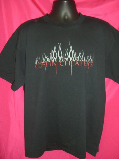 SOLD!  COFFIN CHEATERS Black T-Shirt Size LARGE Motorcycle Club