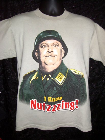 SOLD! Rare Sargent Schultz Small or Medium T-Shirt ~ Hogan's Heroes ~ I Know Nutzzzing!
