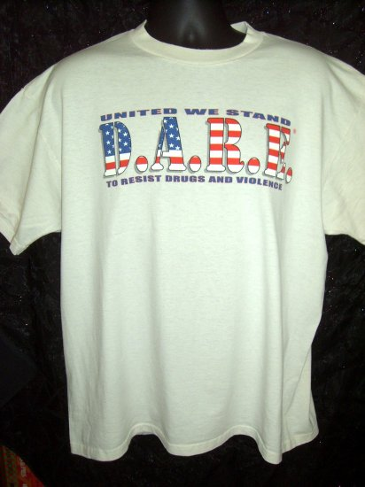 D.A.R.E. To Resist Drugs and Violence XL T-Shirt ALGONA IOWA IA