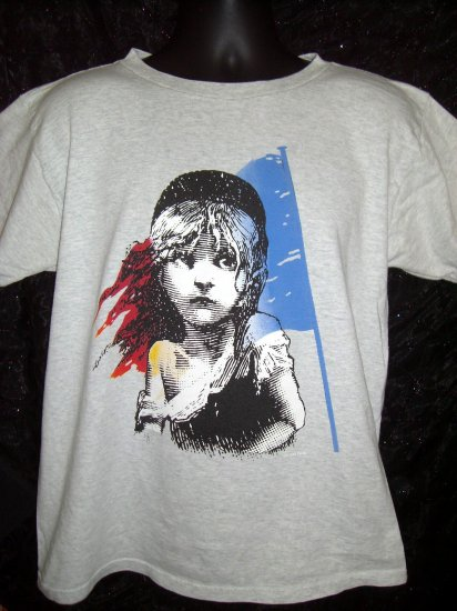 SOLD! Vintage Les Miserables Medium  T-Shirt 1986 Broadway Theater Theatre