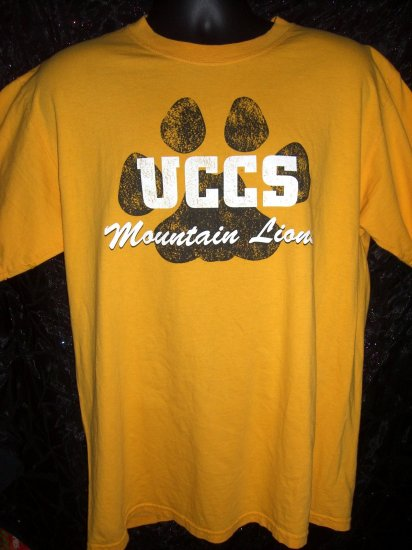 SOLD! UCCS University of Colorado CO Springs Mountain Lions Large T-Shirt