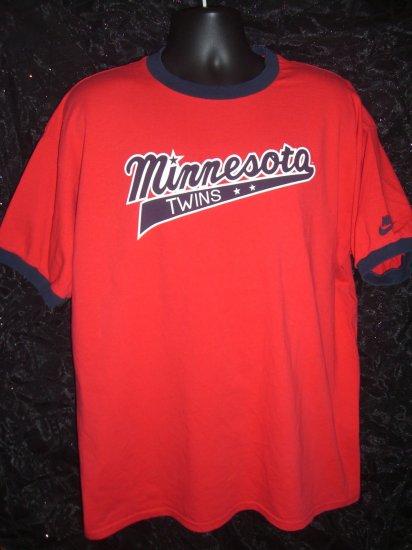 SOLD! MN Minnesota Twins Red Size XL T-Shirt ~  MLB Baseball Team