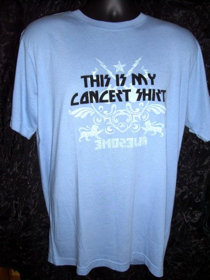 FOSSIL Brand XL Blue T-SHIRT ~ THIS IS MY CONCERT SHIRT AWESOME