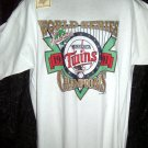 Vintage 1991 White XL T-Shirt Minnesota Twins Baseball World Series