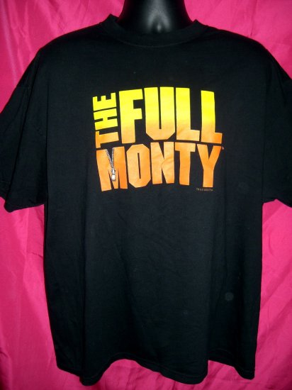 SOLD! The FULL MONTY XL Black T-Shirt Promo From Fox Circa 2000