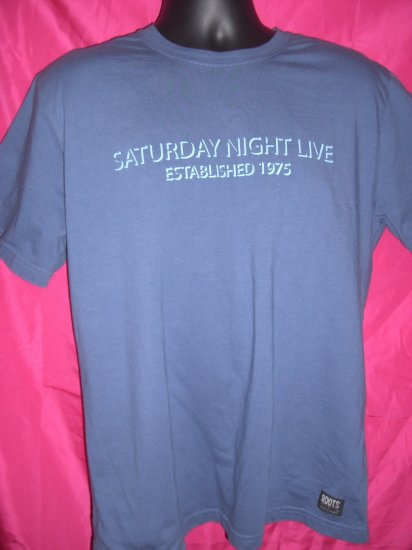 Saturday Night Live SNL Large Blue T-Shirt ROOTS Brand NYC