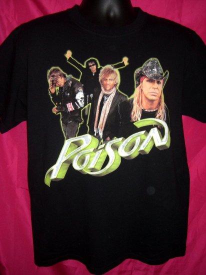 POISON Concert Tour Large Black T-Shirt 2007
