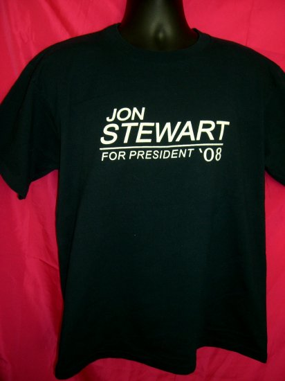 SOLD! Jon Stewart For President '08 Large T-Shirt ~ The Daily Show