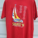 Vintage 1996 SAILFEST Bayfield Wisconsin WI XL T-SHIRT ~ Sailboat Lake Superior Sailing