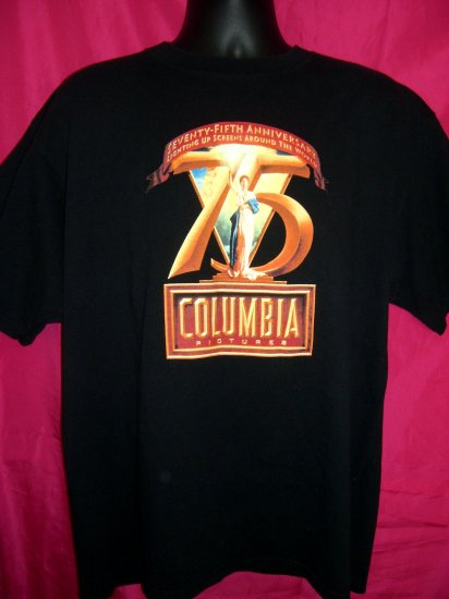 Promo Columbia Pictures 75th Anniversary Black  Large  XL T-Shirt