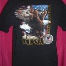 NRA National Rifle Assoc Black T-Shirt Size XL (Extra Large) Eagle Gun