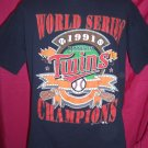Vintage World Series 1991 Large or XL T-Shirt MN Minnesota Twins Baseball