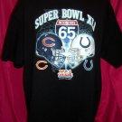 Super Bowl XLI 2007 Size  XXL 2XL T-Shirt Indianapolis Colts  Bears