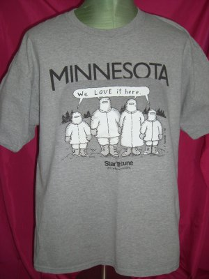 """SOLD! Funny Vintage 1995 MINNESOTA WINTER T-Shirt Size XL """" We Love It Here """""""