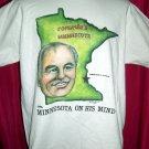 Rare Vintage 1990 Large T-Shirt USSR Mikhail Gorbachev Minnesota