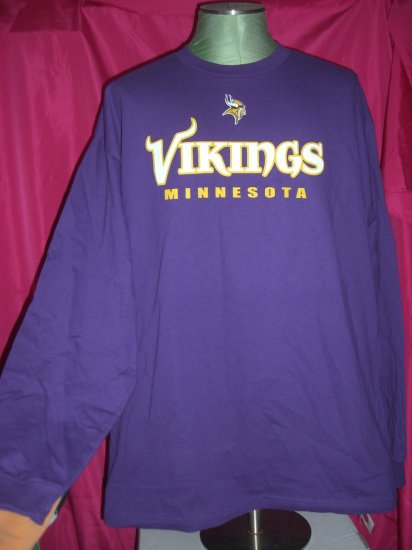 SOLD! NEW NWT MN Minnesota Vikings XXL 2XL Long Sleeve T-Shirt - Shirt