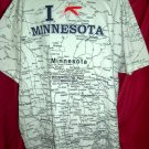 Funny XXXL T-Shirt State MAP of Minnesota I (Mosquito) MN
