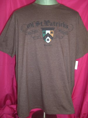 NEW St Patrick's Day Brown XXL (2XL) T-Shirt NWT New London (or Dublin in March) Wisconsin