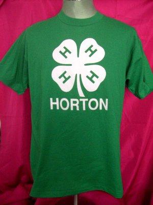Rare 4H HORTON MN Large/XL Green 4 Leaf Clover T-Shirt Cool!