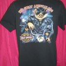 Vintage 1991 3D Harley Davidson Size Large HOG T-Shirt Rare Graphic
