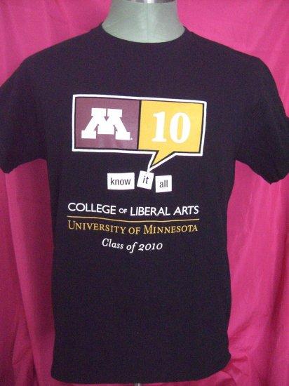 U of M University of Minnesota Medium T-Shirt ~ College of Liberal Arts Class of 2010