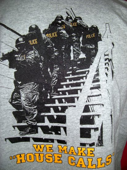 """SOLD! Funny ~ Federal Law Enforcement Training Center XL T-Shirt  """"We Make House Calls""""  Fed Agents"""