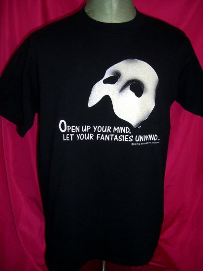 SOLD! Rare Vintage 1988 Phantom of the Opera Size Large T-Shirt Glows in the Dark Mask!