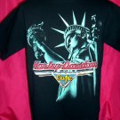 HARLEY DAVIDSON CAFE NYC New York STATUE of LIBERTY Medium T-Shirt