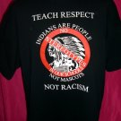 Teach Respect XL XXL T-Shirt Ban Indian Name School Mascots