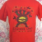 Somos Uno ~ Size Medium / Large Red T-Shirt Mayday 1999