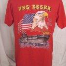Rare US Navy USS ESSEX LHD 2 Size Medium T-Shirt