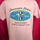 Vintage Mustang Performance Ford & Mercury Club Large / XL T-Shirt Minnesota Pink Size Large T-Shirt