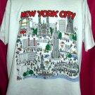 Vintage New York City XXL 2XL White T-Shirt TWC Manhattan NYC 50% Polyester 50% Cotton