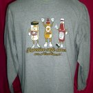 Funny Long Sleeve T-Shirt PRACTICE SAFE LUNCH Size Large