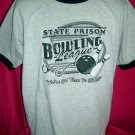Funny Ringer Size XL T-Shirt STATE PRISON BOWLING LEAGUE