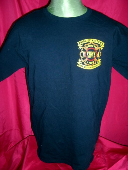 SOLD! RARE FDNY Large T-Shirt ~ PRIDE of MIDTOWN ~ Manhattan Times Square NYC New York