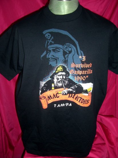 Rare Vintage 1990 Tampa Florida / Gasparilla Pirate Festival T-Shirt Size Large