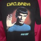 Rare Mr SPOCK XL T-Shirt Star Trek CIAO BABY
