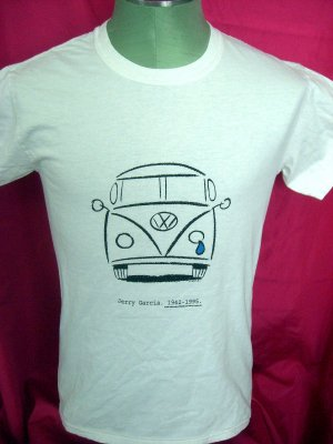 Rare JERRY GARCIA VW Small T-Shirt 1995