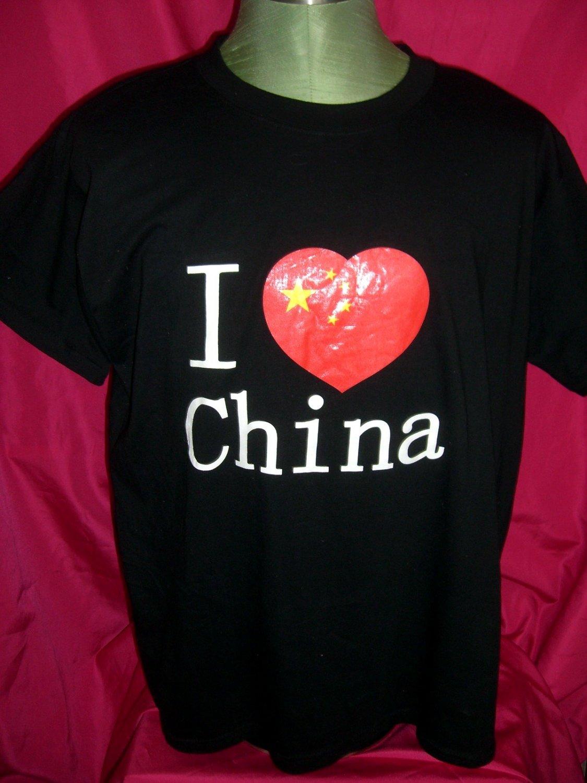 I Heart China Black T-Shirt Size XL (I LOVE CHINA)