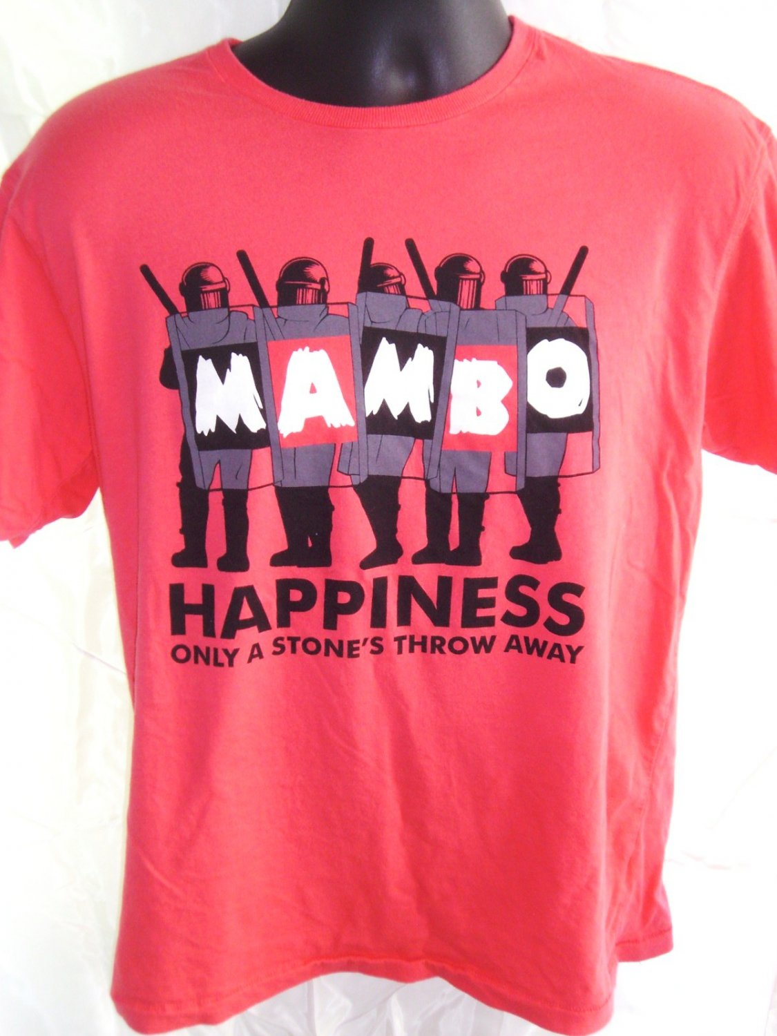 SOLD! MAMBO ~ HAPPINESS IS A STONE�S THROW AWAY Medium T-Shirt