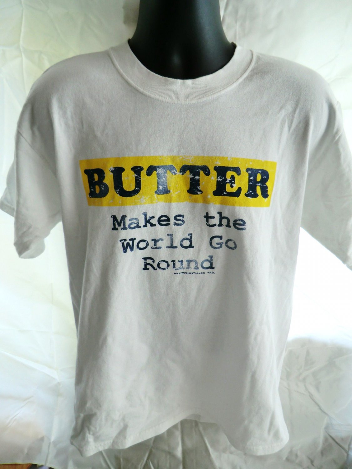 SOLD! Funny Butter Size Large T-Shirt ~ Butter Makes The World Go Round