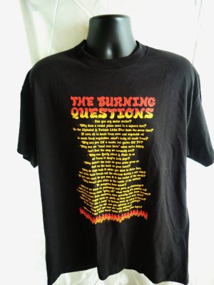SOLD! NWT Burning Questions Black T-Shirt Size XL