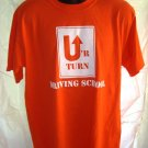 Ur Turn Driving School Orange T-Shirt Size Large/XL