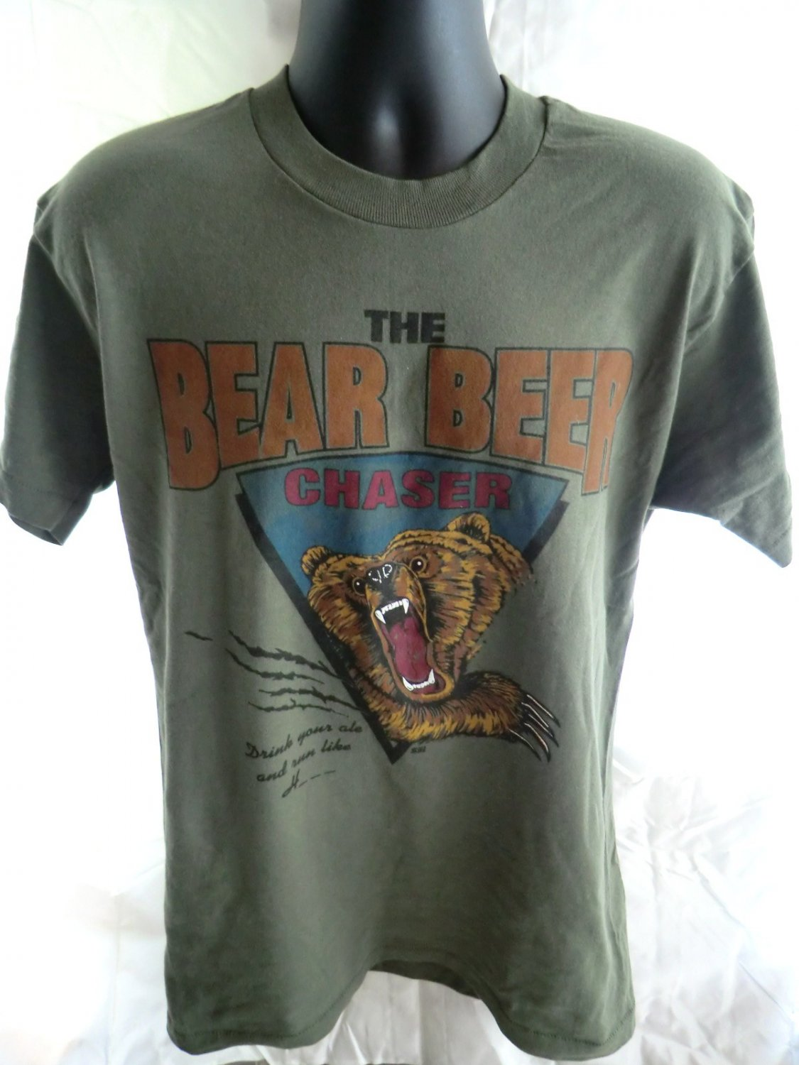 Funny BEAR BEER CHASER Large T-Shirt