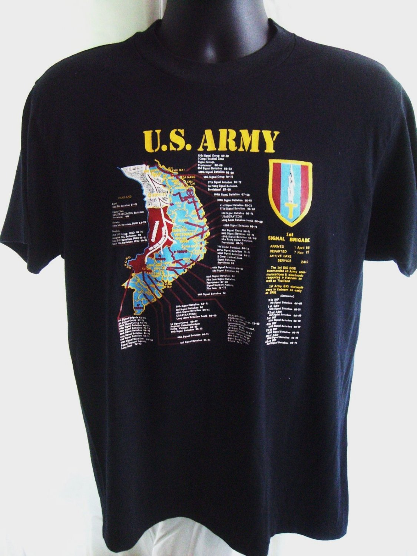 Rare ARMY Vietnam Map Size MEDIUM T-Shirt