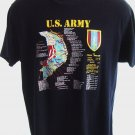 Rare ARMY Vietnam Map Size MEDIUM T-Shirt