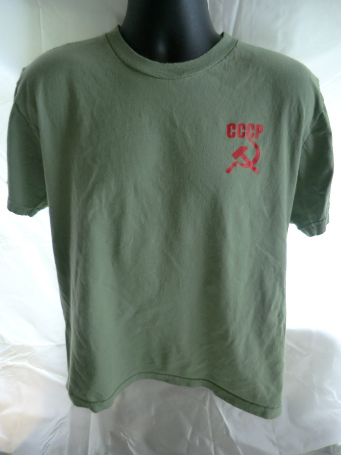 Fun CCCP SOVIET AIRLINES Size Large T-Shirt USSR Russia